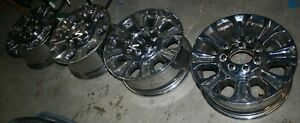 4 Ford King Ranch 8 Lug Factory Oem Chrome 18 Wheels F250 f350 Hc3c 1337 ea