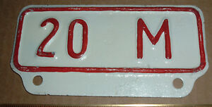 Repainted Vintage 20m Truck License Plate Topper For Ford Gm Chevrolet Dodge