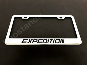 1x Expedition Stainless Steel License Plate Frame Screw Caps