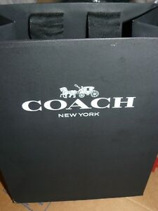 Pack 25 New Coach Retail Paper Shopping Bags black Size 9 5 X 7 5 X 5