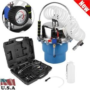 Pneumatic Brake Bleeding Air Pressure Bleeder Tool Kit Garage Mechanics New Usa