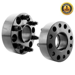 2x 2 Black 6x5 5 Hub Centric Wheel Spacers Adapters For 1999 16 Chevy Silverado