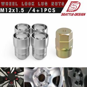 Anti Theft 4 Wheel Lock Lug Nuts 12x1 5 Chrome Key For 2009 2010 Honda Civic