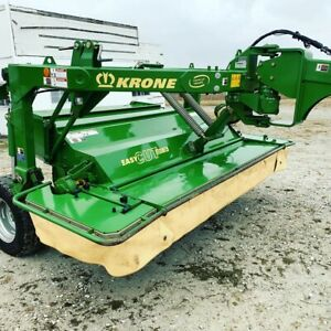 Krone 3210 Cri Hay Disc Mower 11 Cut Center Pivot Rubber Roller Conditioners