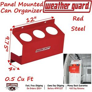 9874 7 01 Weather Guard Steel Red Zone Bulkhead end Panel Mount Can Organizer
