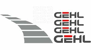 New Decal Set For Gehl Model 253 Compact Mini Excavator