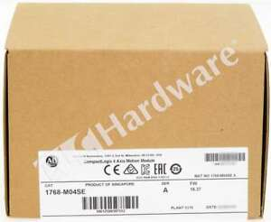 New Sealed Allen Bradley 1768 m04se a 2018 Compactlogix 4 Axis Sercos Interface