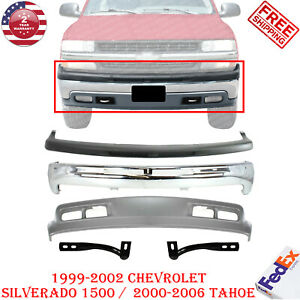 Front Bumper Kit Cap Valance W Bracket For 1999 2004 Chevy Silverado 1500 Tahoe