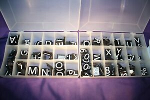 252 Magnetic Letters Characters For Business Or Cafe Sign 1 Tall Grooved