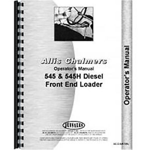 Operators Manual For Allis Chalmers Ac Cultivator Model 66