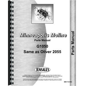 New Minneapolis Moline G1050 Tractor Parts Manual