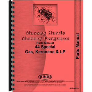 New Massey Harris 44 Tractor Parts Manual