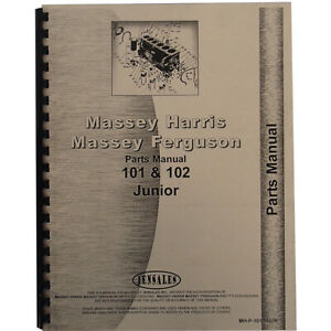 Massey Harris Tractor Parts Manual 101 102 Jr Tractor