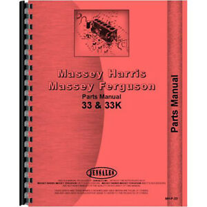 New Massey Harris 33 Tractor Parts Manual row Crop Standard