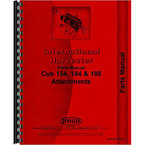 New International Harvester Rotary Tiller Attachment Parts Manual