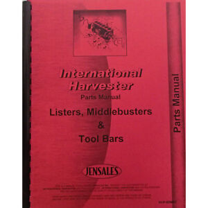 International Harvester 80 Planter Middle Buster Cultivator Parts Manual