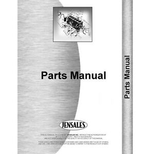 New International Harvester Rd Tractor Parts Manual