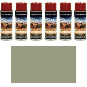 Tp240sp Pack Of Six 6 Medium Gray Spray Paint Cans For Ford Machines