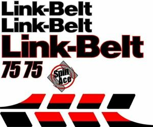 Link belt 75 Excavator Decal Set With Spin Ace Decal