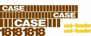 New Whole Machine Decal Set With Uni loader Decals For Case Skidsteer 1818