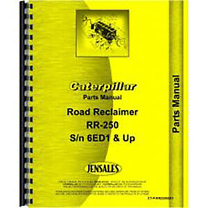 For Caterpillar 250 Tractor Parts Manual new