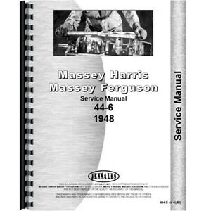 New Massey Harris 44 Tractor 6cyl Service Manual