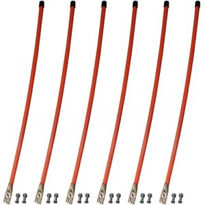 6 Snow Plow 36 Orange Blade Markers Guides For Meyer Western Boss Universal