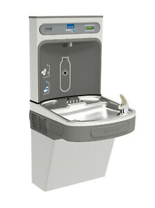 Elkay Ezs8wssk Ezh2o Hands free Drinking Fountain And Bottle Filling Station Wit