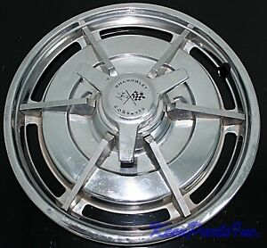 1963 Corvette Hubcap Wheel Cover Original With Spinner