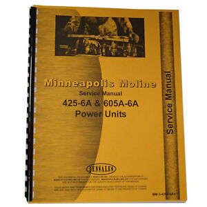 Service Manual Made For Minneapolis Moline Tractor Model 425a 6a
