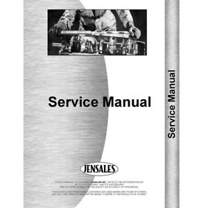 Tractor Service Manual For International Harvester Cub Cadet 124 Tractor