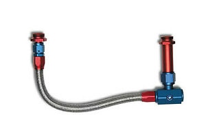 Russell 641090 Braided Stainless Steel Fuel Line Holley 4150 4160 6 An Red blue