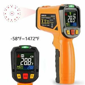 Thermometer Digital Laser Non Contact Cooking Ir Temperature Gun Color Display