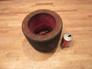 Antique Vintage Farmall H M Super Md 300 350 400 450 Tractor Flat Belt Pulley