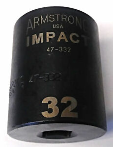 Armstrong 47 332 1 2 Drive 12 Point Impact Socket 32mm Usa
