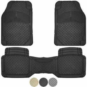 New 3pc All Weather Premium Flex Truck Rubber Floor Mats Liner Set For Chevy Gmc
