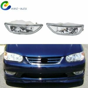 Pair Of Fog Lights Clear Lens Front Driving Lamps For 01 02 Toyota Corolla Usa