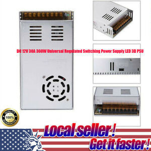 Dc 12v 30a 360w Universal Regulated Switching Power Supply Led 3d Psu Adapter Ch