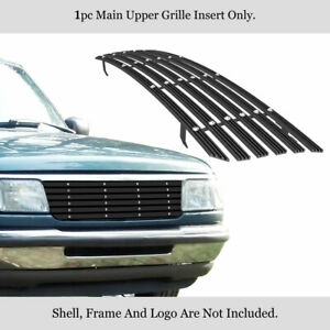 Fits 1993 1997 Ford Ranger Not For 4wd Main Upper Black Phat Billet Grille