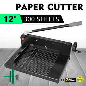 New Heavy Duty Guillotine Paper Cutter 12 Commercial Metal base A3 Trimmer
