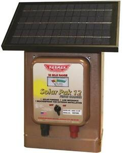 New Parker Mccrory Mag12 sp Electric Fence 12 Volt Solar 30 Mile Charger Usa