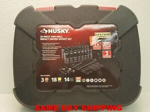 Husky 92 piece 1 4 In And 3 8 In Drive Mechanics Tool Set Item 801003 bb5