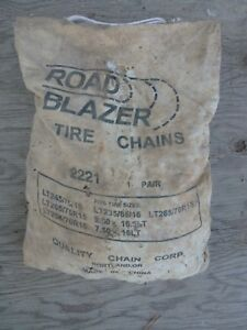 Road Blazer Snow Chains 2221 Light Truck Tire Snow Chains Unused In Bag