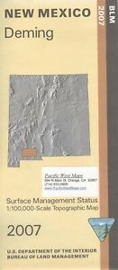 Usgs Blm Edition Topographic Map New Mexico Deming 2007