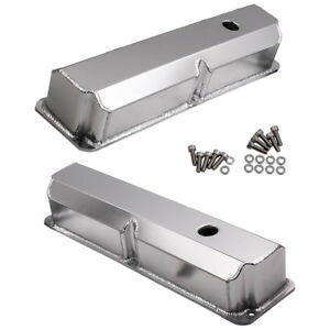 For Ford Fe 352 360 390 427 428 Tall Fabricated Stain Aluminum Valve Covers Pair