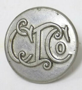 Old Uniform Button Colebrookdale Iron C I Co Pa Mfg Sad Irons Meat Grinders