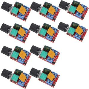 20x Mini Dc Motor Pwm Speed Controller 3v 35v 5a Speed Switch Led Dimmer Module