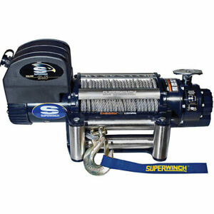 Superwinch 1695300 Talon Series Winch Rated Line Pull 9 500 lb 5 2 Hp Motor Fre