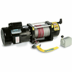 Superwinch 1730001 Ac3000 Winch Rated Line Pull 3 000 lb 1 0 hp Ac Motor Free S