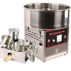 Electric Commercial Candy Floss Making Machine Cotton Sugar Maker 220v 1000w
